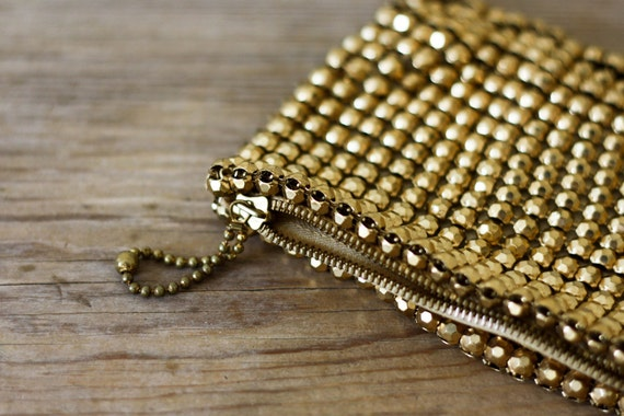 Gold Mesh Clutch by Whiting and Davis