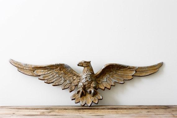 Cast Metal Eagle, Vintage Architectural Salvage