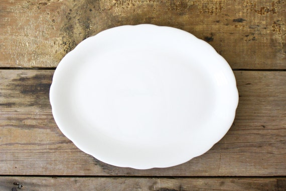White Platter by Buffalo China, Vintage Restaurant Ware