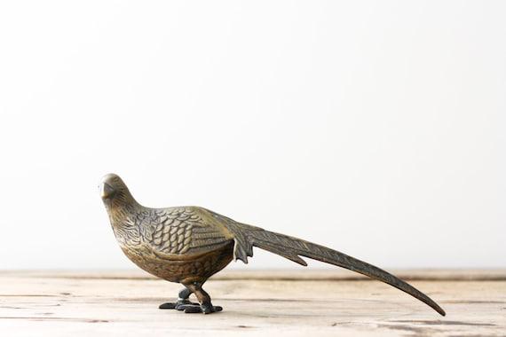 Vintage Brass Pheasant