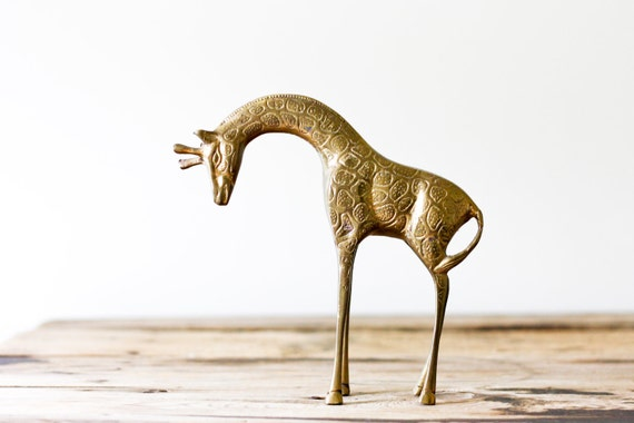 Vintage Brass Giraffe