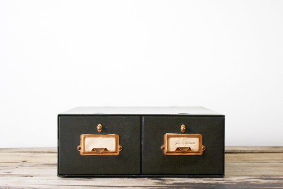 RESERVED for Michelle Vintage Industrial Metal Two-Drawer File Cabinet in Military Green, Double Drawer
