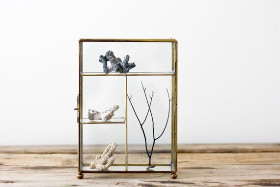Brass and Glass Curio Cabinet