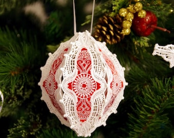 Christmas tree Ornament  3D  Embroidered by Natalia Sabins    Someone Special 5.5X5.5
