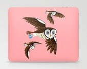 iOTA - Owls On The Prowl - illustrated Owl Laptop & iPad Skin