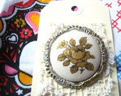 SALE - Vintage West German Flower Brooch