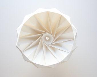 Chestnut paper origami lampshade white