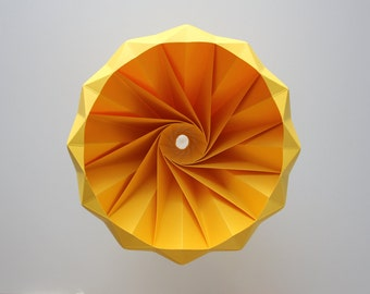 Chestnut origami hanging paper lamp shade / pendant light Gold Yellow