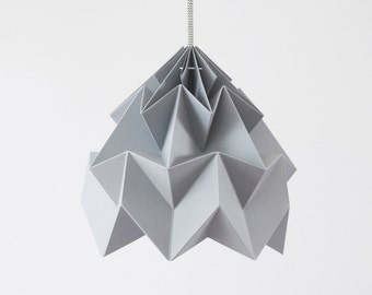 origami paper lamp shade Moth grey