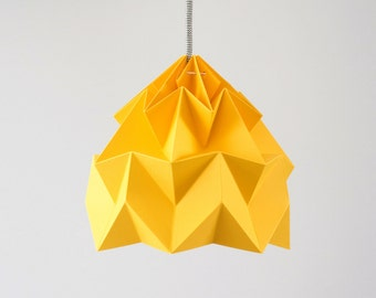 paper pendant lamp shade Moth gold yellow