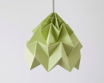lamp origami Moth autumn green
