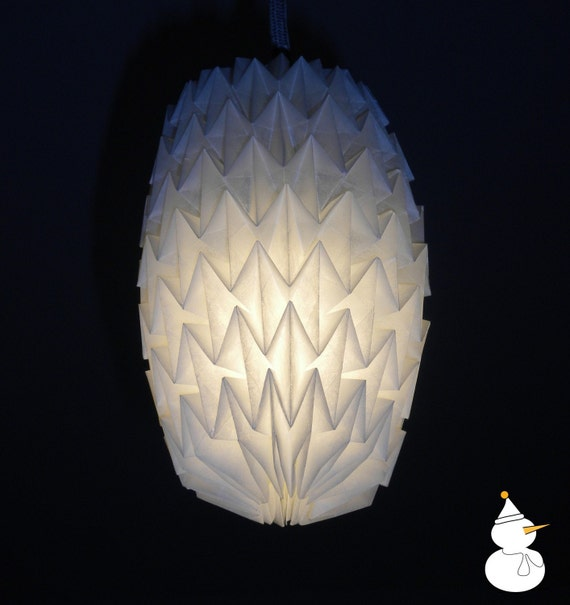 Parchment paper origami lampshade - size S