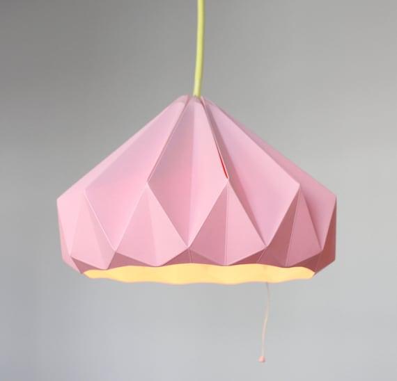 Kastanien Papier Origami Lampenschirm Rosa