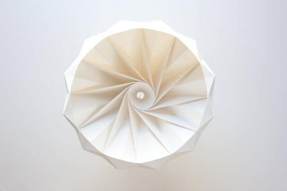 Chestnut paper origami lampshade white aloadofball Images