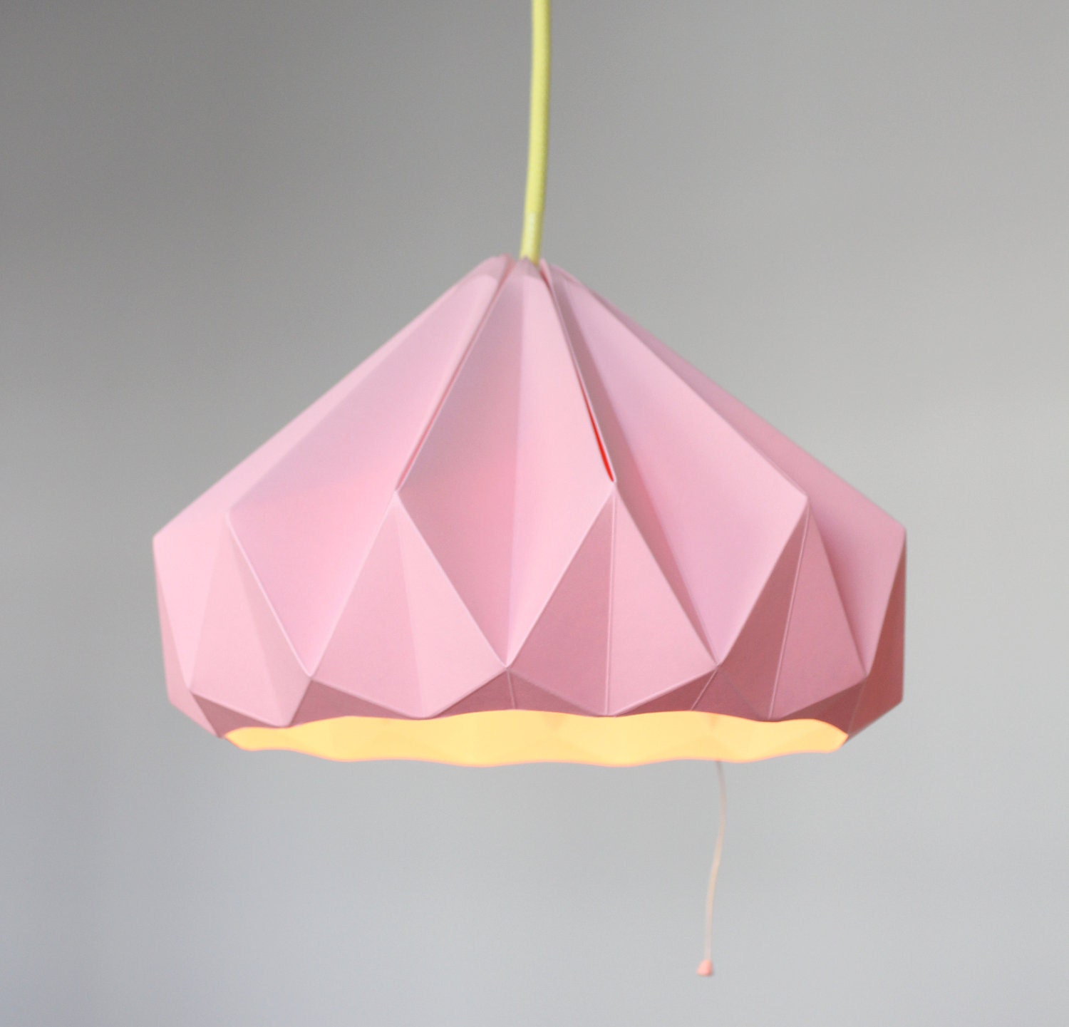 Paper origami lampshade chestnut pink zoom geotapseo Image collections
