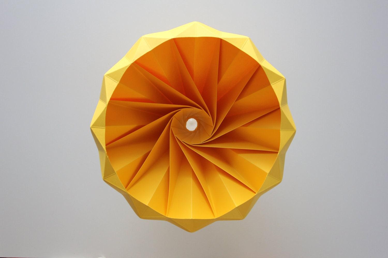 Chestnut Origami Hanging Paper Lamp Shade Pendant Light Gold