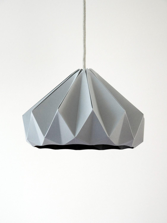 chestnut paper origami lampshade grey. Black Bedroom Furniture Sets. Home Design Ideas