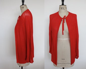 Vintage 1970s Red Designer Cardigan by Jaeger