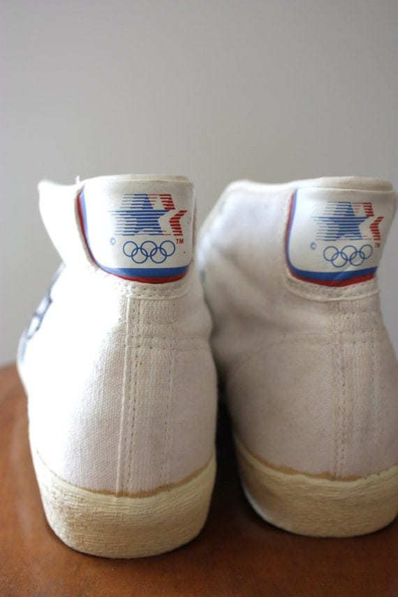 Vintage 80s Converse Olympic All Star Dr J Canvas Basketball Sneakers Mens Size U.S 14M