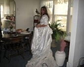 Wedding Gown Satin With Sequins and Pearls  (Price Reduced )