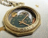 Steampunk Time Travelers Watch Necklace - 4.08