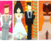 Origami Cake Toppers