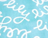 CUSTOM Fabric Pattern Design with Your Name - Lily Style