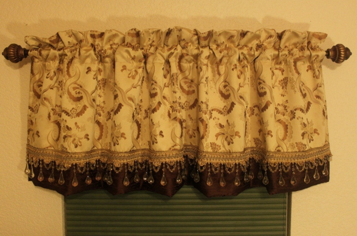 valance curtains drapes golden custom made by sewhomedecor