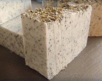 1 Rosemary Peppermint Soap bar (Vegan)  approximate 4oz Shrink wrapped and Labeled