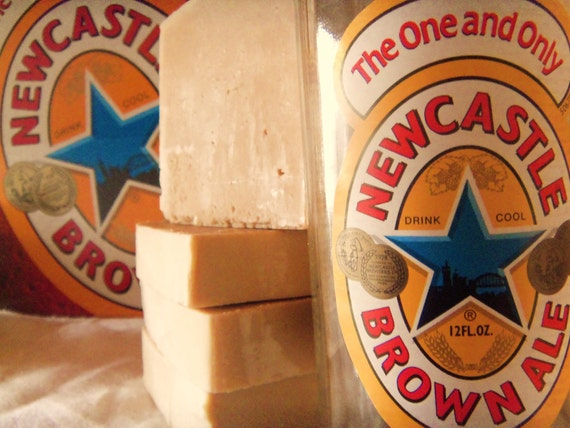 FREE Gift Wrapping. 1 Beer Soap made with Newcastle  approx 4oz each.  Vegan Friendly. Guy Man