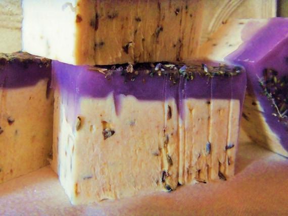 1 Extra Creamy Lavender handmade Soap. approx 4oz