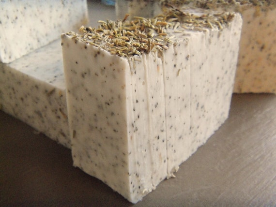 6 Rosemary Peppermint soap bars approximate 4oz each. Vegan. each will be Gift wrapped as seen pic 5