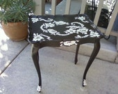 Little Bitty Black French Table