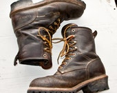 VINTAGE BOOTS Old Worn Distressed