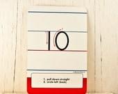 Flash Cards Vintage Letters Classroom Supplies Alphabet Cards, Letter, Initials, Flashcards, Goodmerchants Goodmerchants