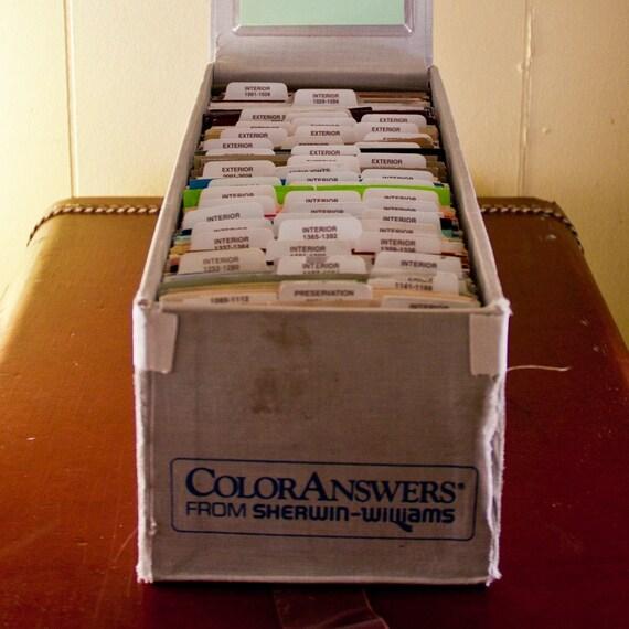 Sherwin Williams Paint Sample Card Box