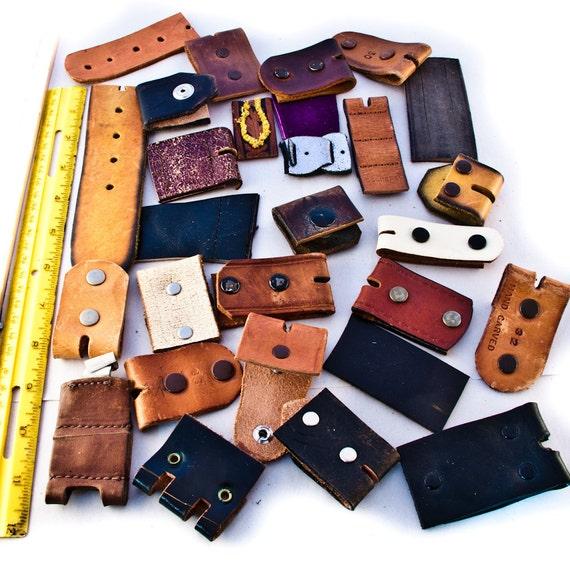 Scrap Leather Lot Remnants Pieces Destash Supplies Instant Collection Goodmerchants