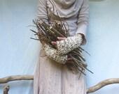 Lightning Strike SALE Naturalist Warmers, merle wool mix yarn