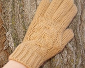 Night Owl Cable Gloves - Butterscotch