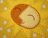 Hand Embroidered Sunshine Hoop