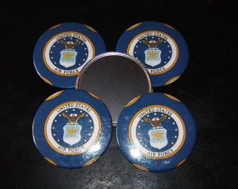 5 US Air Force Refrigerator Magnets  FIVE Strong United States Air Force 3""