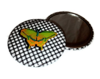 "Butterfly Pocket Mirror 3"" Large Chic"