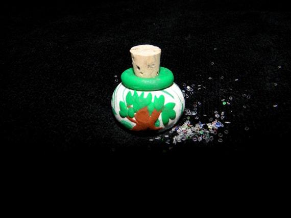Fairy Dust Bottled in a Polymer Clay Miniature Jar