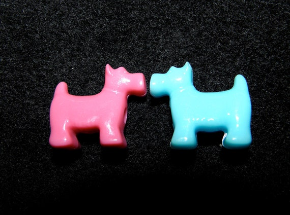 Reserved for Rayven 30 Dog Doggie Beads Multi-colored beads look like a Scottie 30 beads