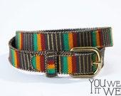 Vintage Gwenie Rasta Waist Belt a different world jamaica