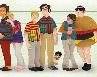 "Tim and Eric: Where's My Chippy 8x18"" Art Print"