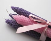 Advent Candles, Advent Beeswax Candles, Purple Advent Candles, Advent Tapers, Beeswax Candles, Christmas Advent Candles, Beeswax