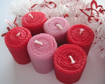 Pink and Red Votive Candles