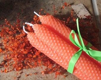 Beeswax Candles-Orange