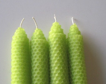 Lime Green Beeswax Candles, Beeswax Candles, Beeswax Candle, Green Beeswax Candle, Honeycomb beeswax, Candles for Men, Beeswax Decor, Green